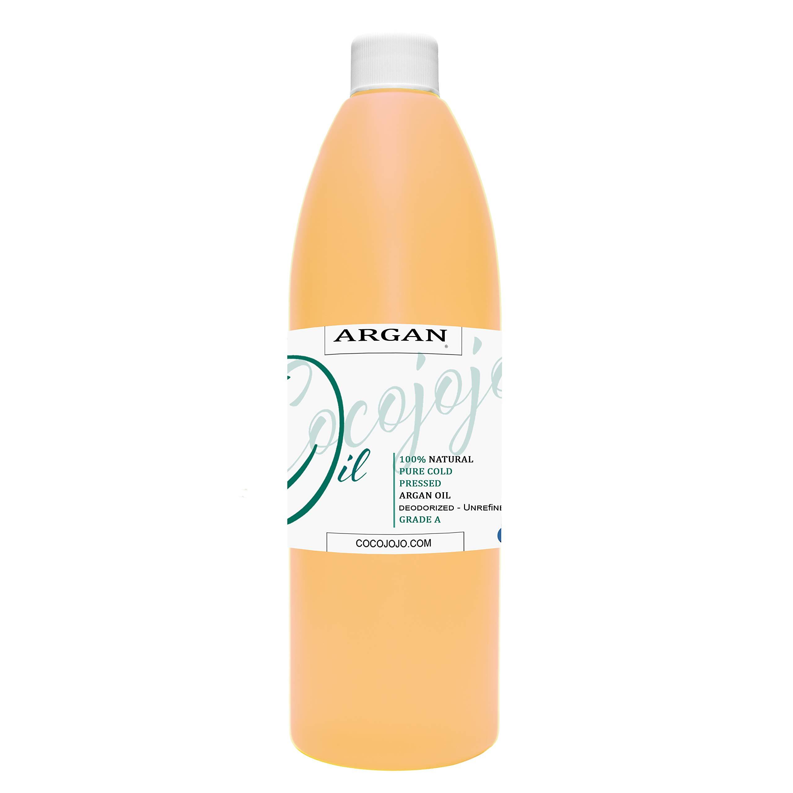 Argan Oil -Cold Pressed 16 oz 100% Pure Natural Extra Virgin Unrefined Grade-a Argan Moroccan Marrakesh Oil Moisturizer Hair Face Lips Body Scalp Skin Hair