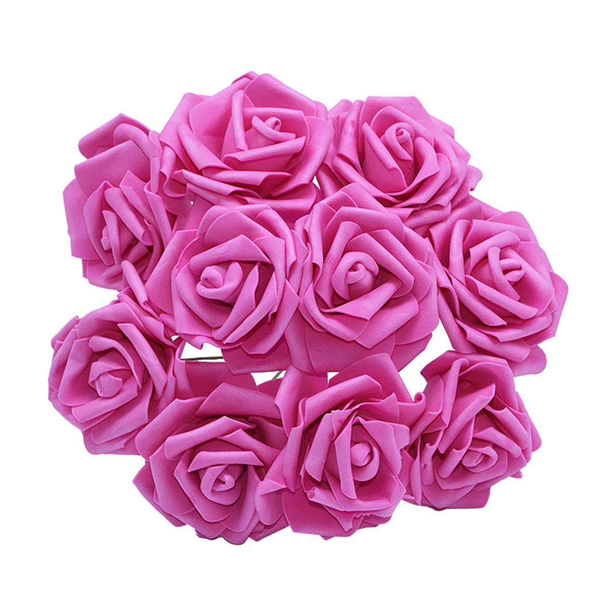 YONGSNOW Artificial Rose Flower 30Pcs PE Foam Roses Bulk with Stem Real Touch 3D Rose for DIY Wedding Bouquets Centerpieces Bridal Shower Party Home Decoration (Rose red)