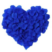 YoungLove 1000 Pcs Silk Artificial Rose Petals Valentine Romantic Wedding Party Home Decorations, Royal Blue