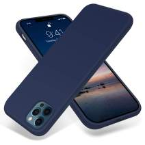 JELE Compatible with iPhone 12 Pro Max Case 6.7 inch(2020),Premium Soft Liquid Silicone Rubber Full-Body Protective Anti-Scratch Shockproof Bumper Case (Navy Blue)