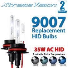 Xtremevision AC HID Xenon Replacement Bulbs - 9007 10000K - Dark Blue (1 Pair) - 2 Year Warranty