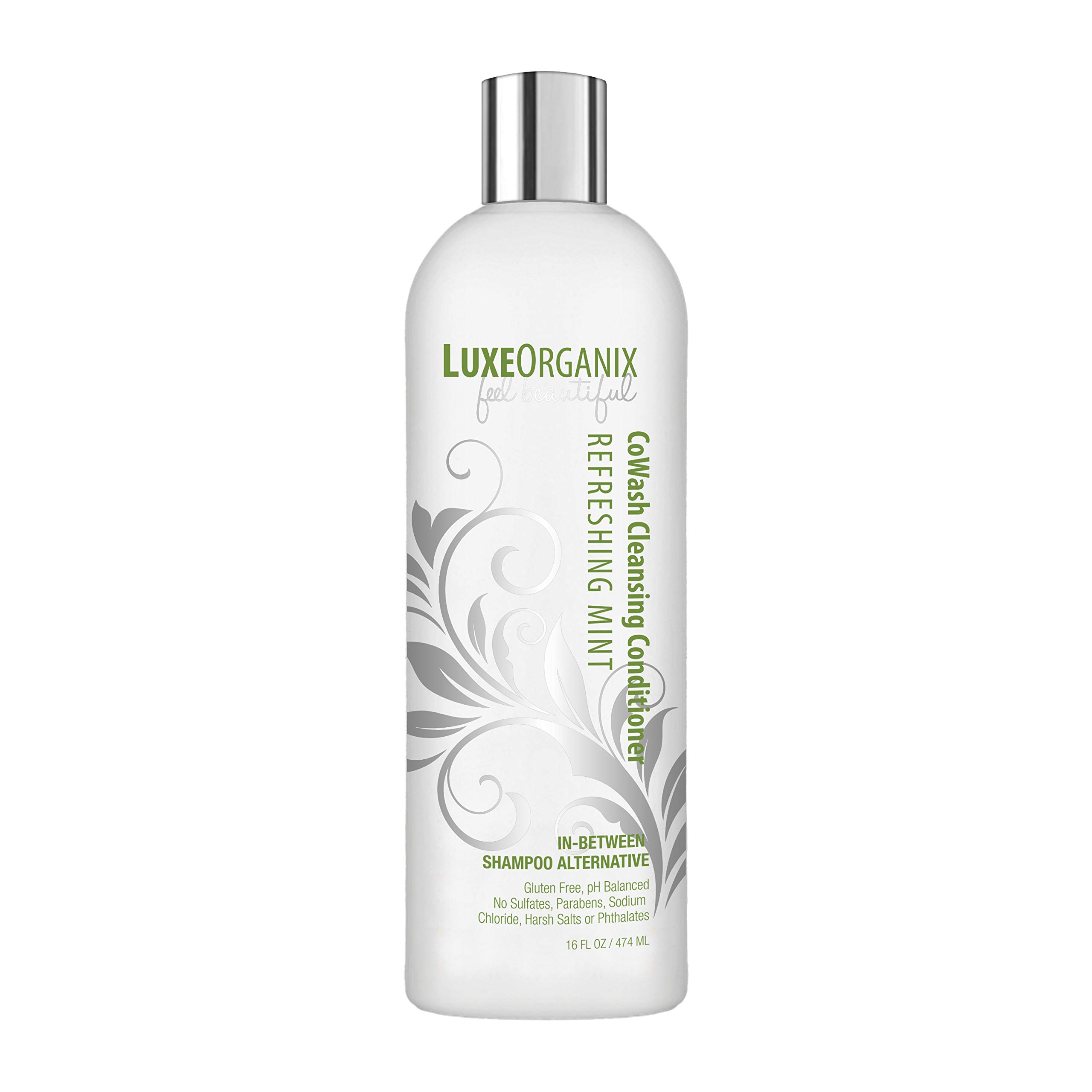 Cleansing Conditioner Cowash: Sulfate-Free and Keratin Safe, Won't Strip Hair or Cause Dryness. Soothing and Refreshing Mint, Safe for Natural, Curly, Colored, Dry or Damaged Hair. - LuxeOrganix (USA)