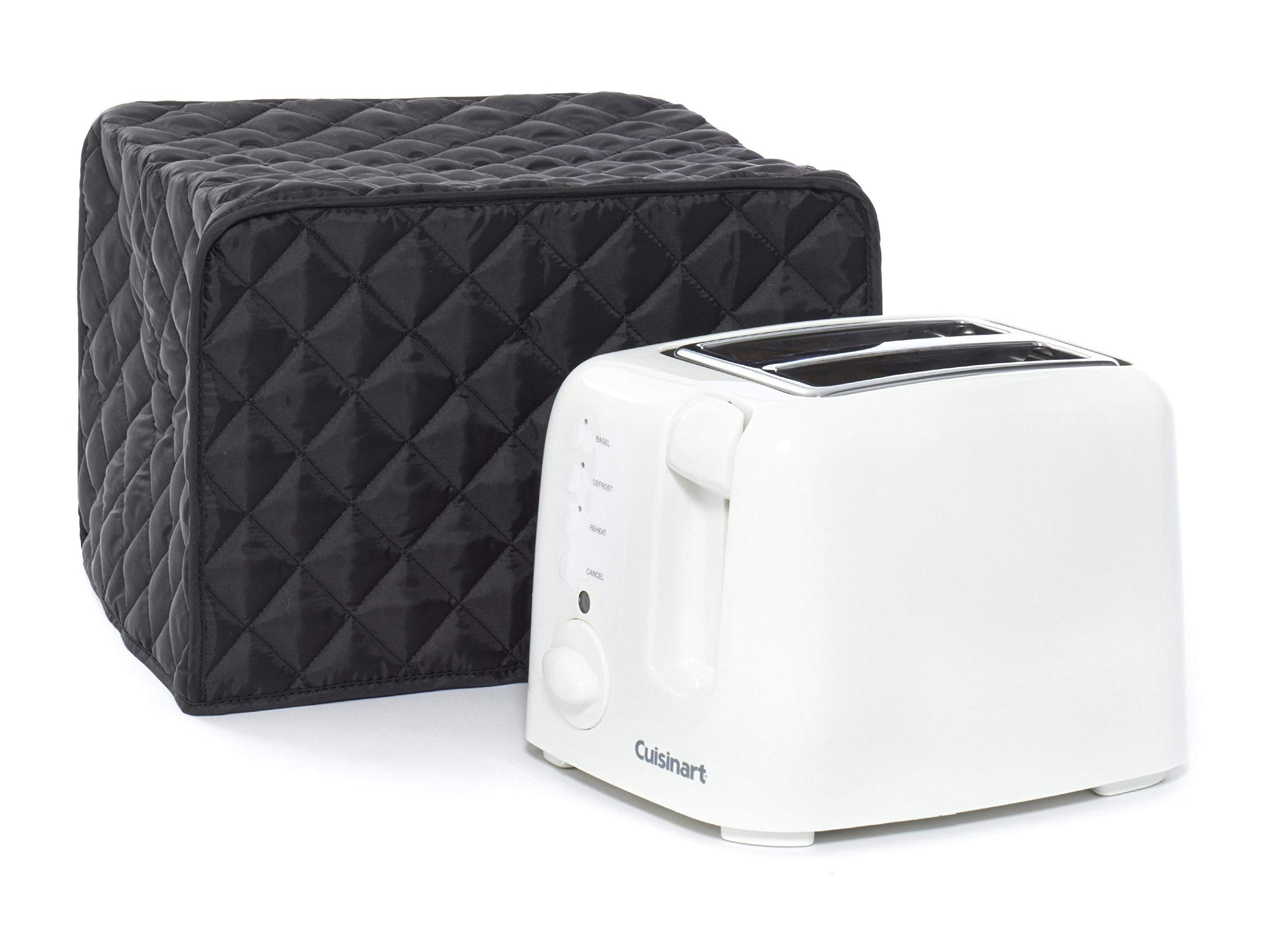 Covermates Keepsakes – Toaster Cover – Dust Protection - Stain Resistant - Washable – Appliance Cover - Black