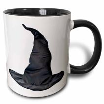 3dRose 131390_4 Halloween Witches Black Hat Mug, 11 oz