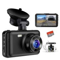 """Dash Camera for Cars, YOCHOS 1080P Front and Rear Dual Dash Cam, 3"""" LCD Screen 170° Wide Angle Dash Cam with Night Vision WDR G-Sensor Parking Monitor Loop Recording Motion Detection.(SD Card Include)"""
