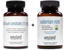 Weyland Brain Nutrition: Lithium Orotate2.5mg+ Organic Valerian Root (30 Count)