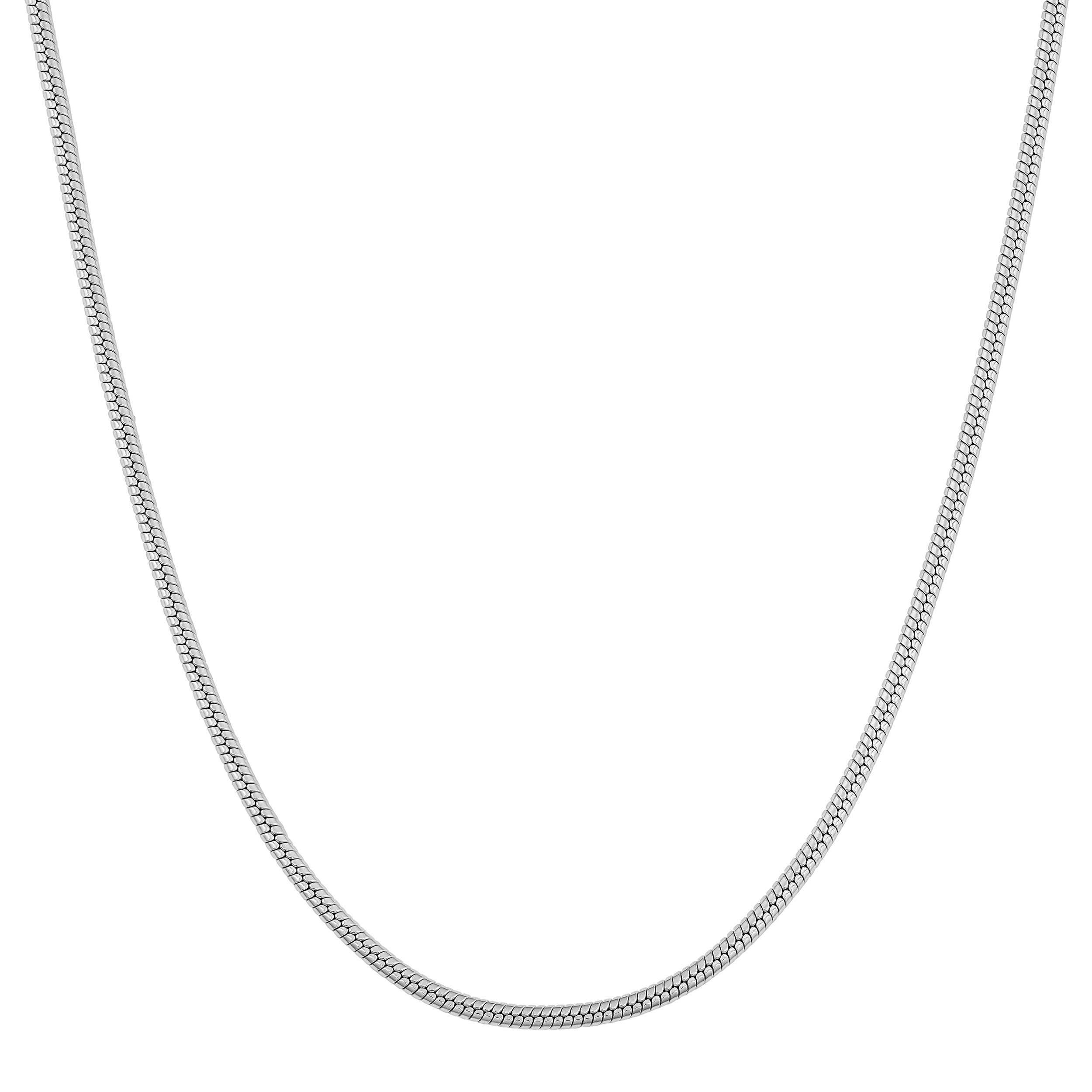 Kooljewelry Sterling Silver 1.3 mm Round Snake Chain Necklace
