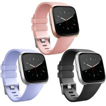 Vancle Band Compatible with Fitbit Versa Bands & Fitbit Versa Lite SE Bands, Classic Accessories Replacement Wristbands for Fitbit Versa Smartwatch