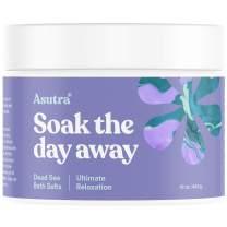 ASUTRA Dead Sea Bath Salts (Ultimate Relaxation), 16 oz | Melt Tension Away | Soak in Rich & Vital Healing Minerals | All Natural & Organic Cedarwood, Chamomile, Lavender, Marjoram Essential Oils