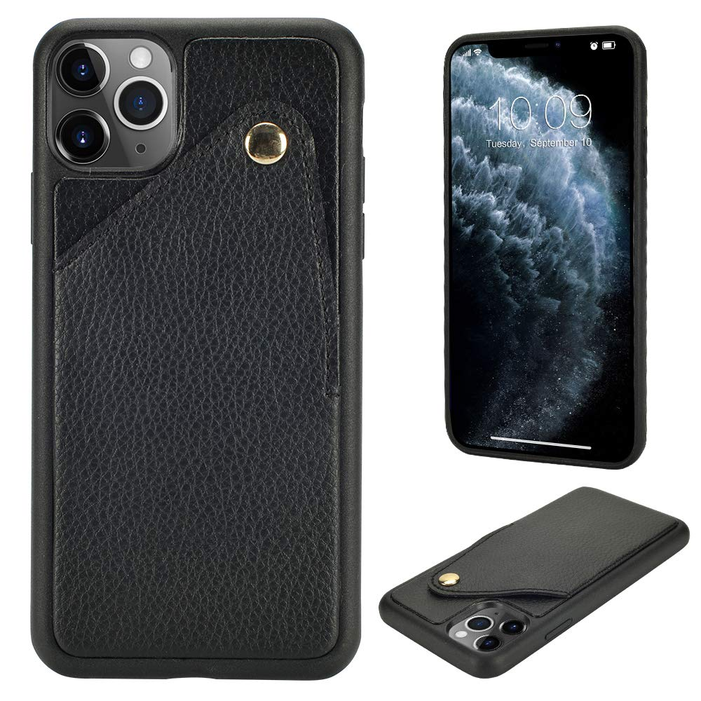 ZVE iPhone 11 Pro Max Wallet Case, iPhone 11 Pro Max Slim Case with Credit Card Holder Slot Protective PU Leather Bumper Case Cover Compatible with iPhone 11 Pro Max 6.5 inch 2019 - Black