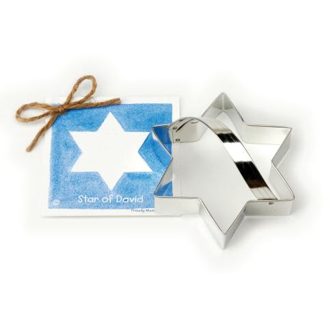 Star of David Cookie and Fondant Cutter - Ann Clark - 4.6 Inches - US Tin Plated Steel