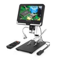 Andonstar AD206 USB Digital Microscope with LED Fill Light, 7-inch Adjustable 30f/s Display and 2MP HD Image Sensor for PCB SMD CPU Soldering Phone Repair