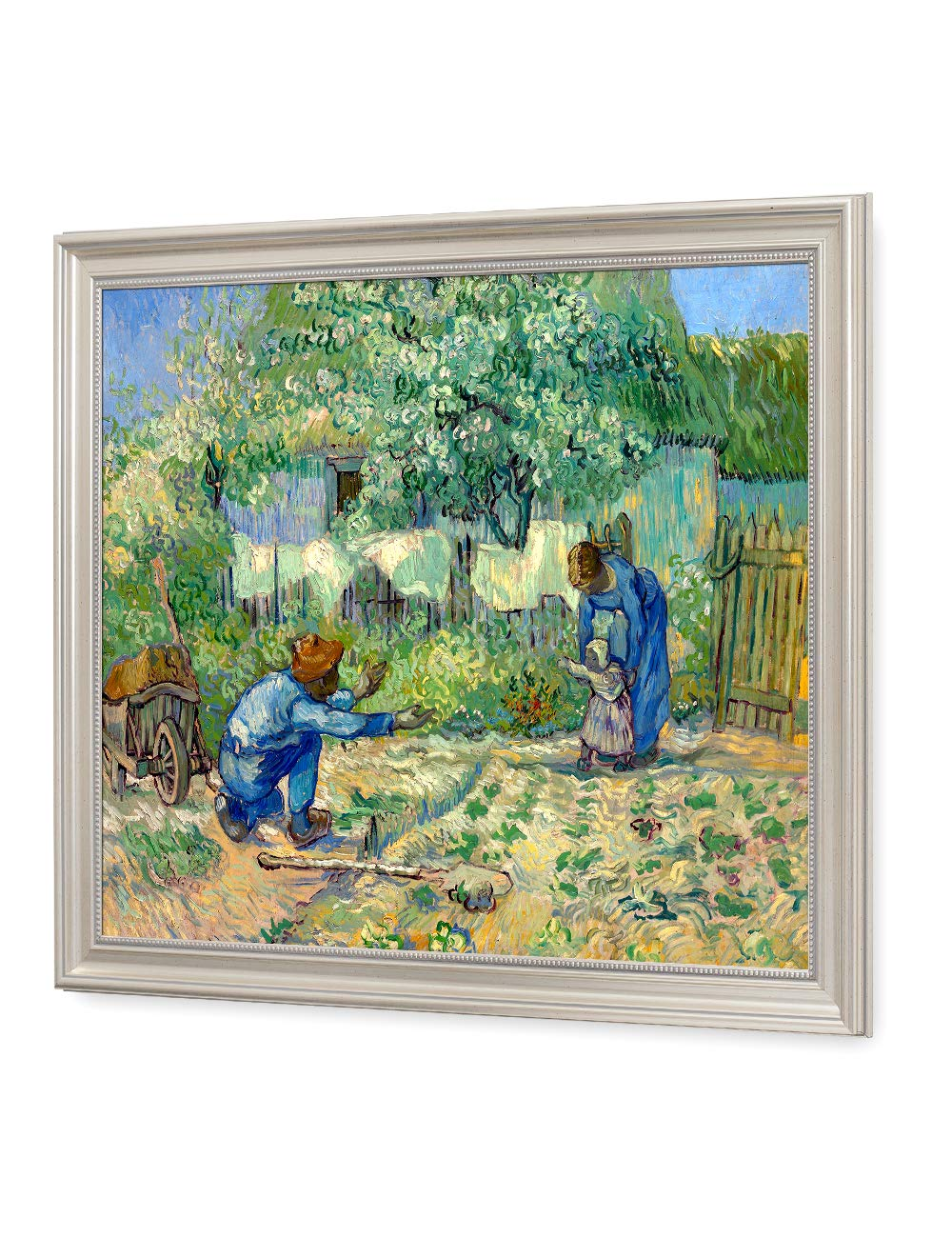 DECORARTS - First Steps, After Millet. Vincent Van Gogh Reproductions. Giclee Print for Wall Decor. Pic Size: 16x20 Framed Size: 19x23