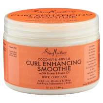 Shea Moisture Coconut & Hibiscus Curl Enhancing Smoothie 12 Oz, Pack of 2
