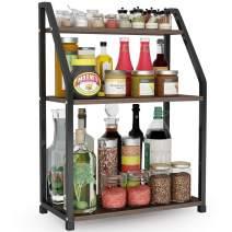 Spice Rack Spice Organizer 3-tier Standing Kitchen Bathroom Countertop Storage Organizer, Spice Bottle Jars Holder Rack Iron Shelf Structure by 1Easylife
