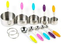 Bekith Stainless Steel Measuring Cups and Spoons Set, 10 Piece