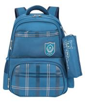 JiaYou Girl Boy Primary School Bag Student Backpack With Pencil bag For Ages 6-13 years(StyleB Blue2,18L)