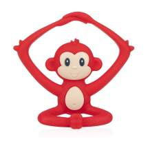 Nuby Yogis All Silicone Soothing Teether, Monkey