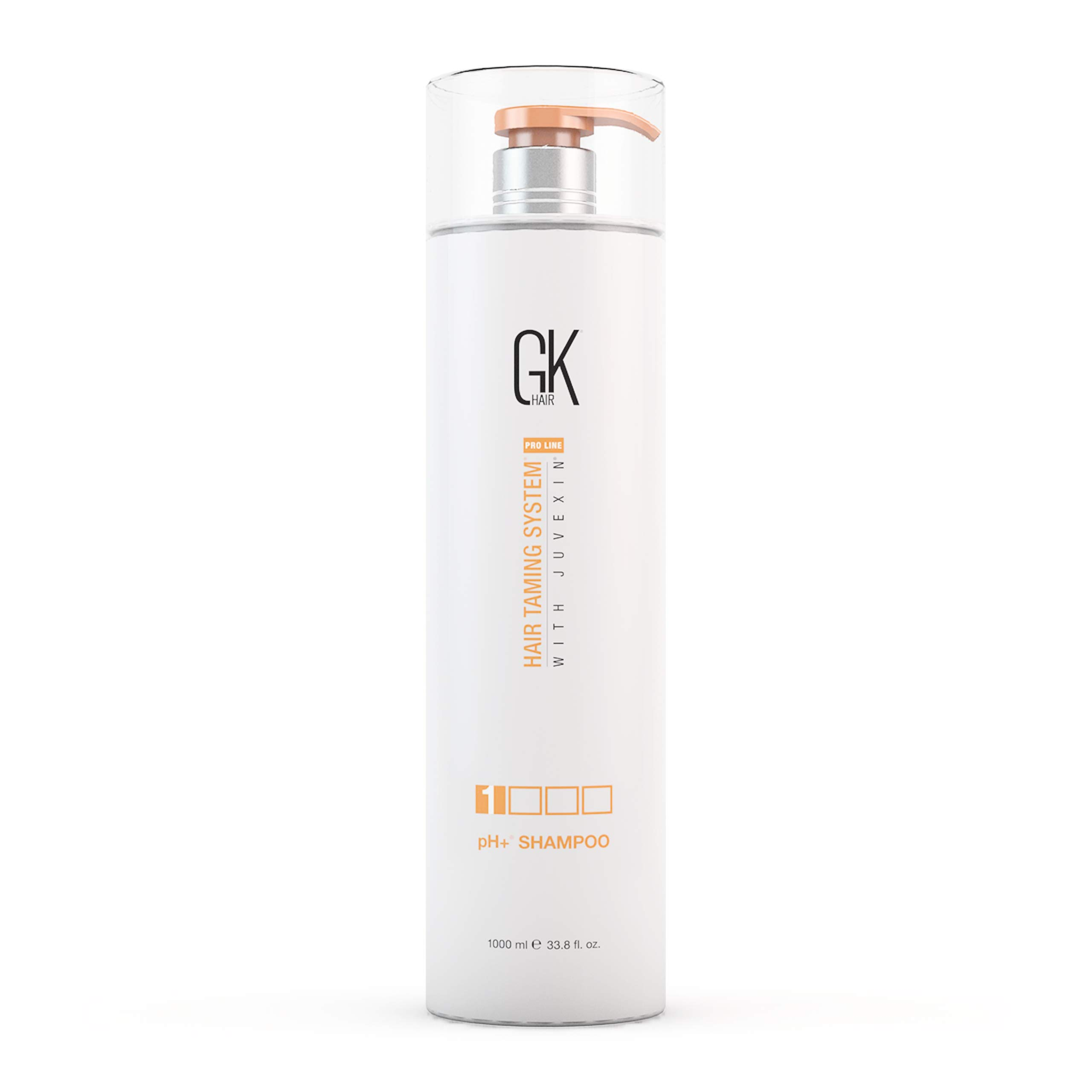 Global Keratin GKhair pH+ Pre-Treatment Clarifying Shampoo (1000ml/ 33.8 fl. oz) | For Deep Cleansing, Removes Impurities - With Aloe Vera, Vitamins and Natural Oils