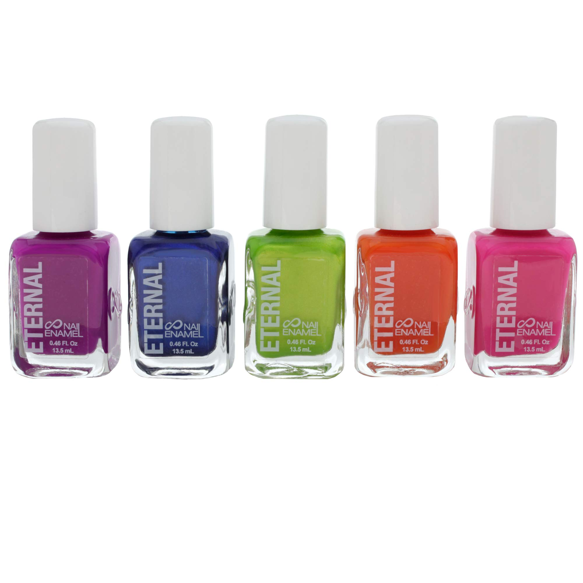 Eternal 5 Collection: Rainbow Days - 5 Pieces Set: Long Lasting, Quick Dry Nail Polish