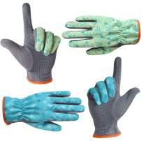 SEUROINTGardeningGlovesforMenandWomen,GardenWorkGloveswithPVCDots,2PairsLightweightBreathablePolyesterGloves,Blue&Green,ExtraLargeSize