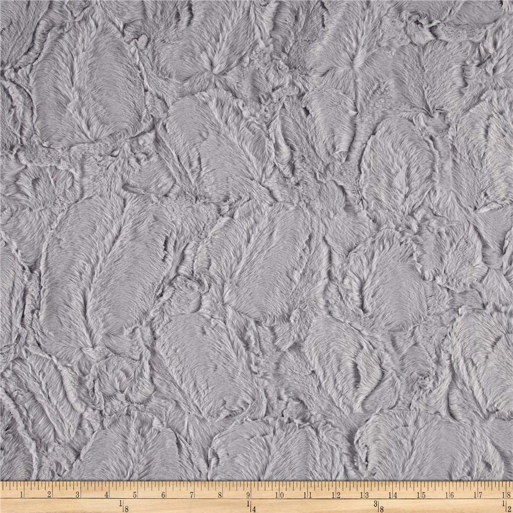 Shannon Fabrics Shannon Minky Luxe Cuddle Hide Silver Fabric By The Yard