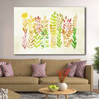 wall26 Canvas Wall Art - Watercolor Style Colorful Leaves - Giclee Print Gallery Wrap Modern Home Decor Ready to Hang - 16x24 inches