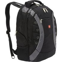 Swiss Gear SA1191 Black with Gray Laptop Backpack - Fits Most 15 Inch Laptops and Tablets