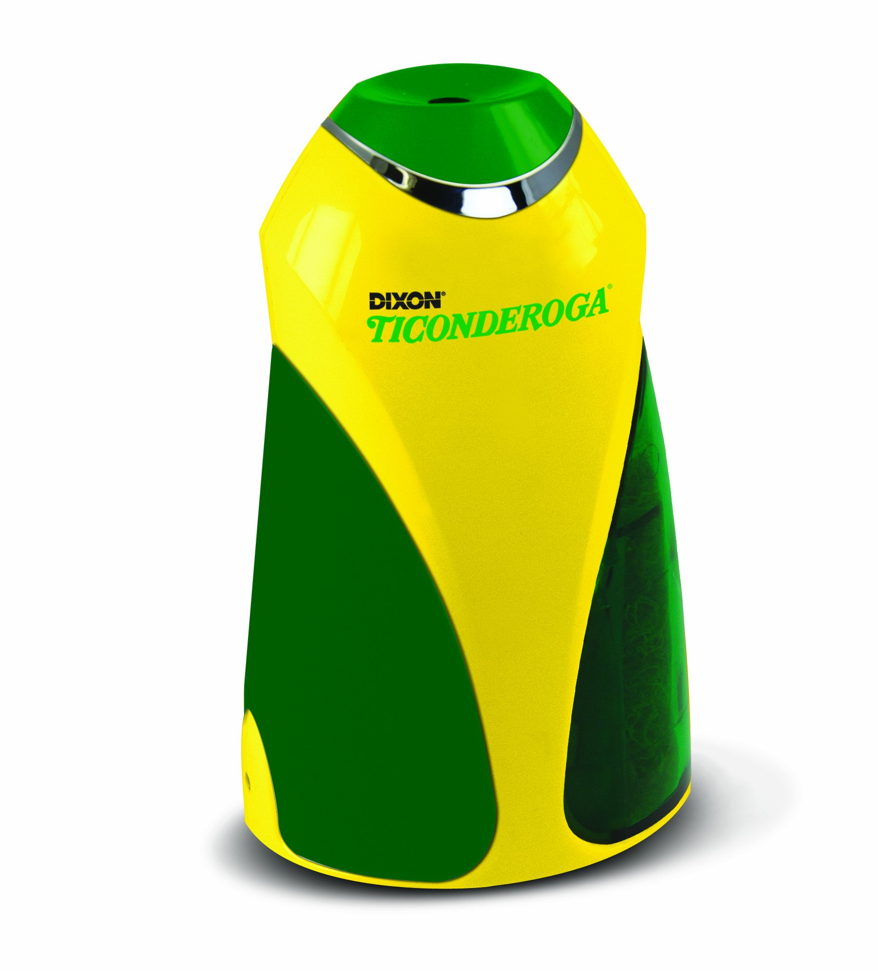 Ticonderoga Personal Electric Pencil Sharpener, Vertical, Yellow and Green, Plus 12 Ticonderoga Pencils (39571)