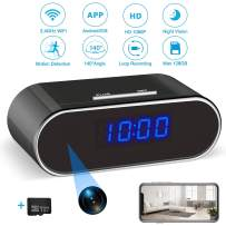 Hidden Spy Camera Clock | Hidden Camera with 32GB SD Card, 1080P WiFi Spy Camera Wireless Hidden Security Camera Nanny Cam with Night Vision and Motion Detection for Home Office