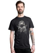 Headline Shirts - Funny Graphic Sloth Shirts - Screen Printed Crewneck T-Shirt for Men