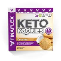Keto Kookies, Indulgent and Delicious Gluten Free Shortbread Cookies, Ketogenic Snack, All Natural Ingredients, Non GMO, Only 1 Net Carb per Serving, 8 Servings per Box (Coconut)