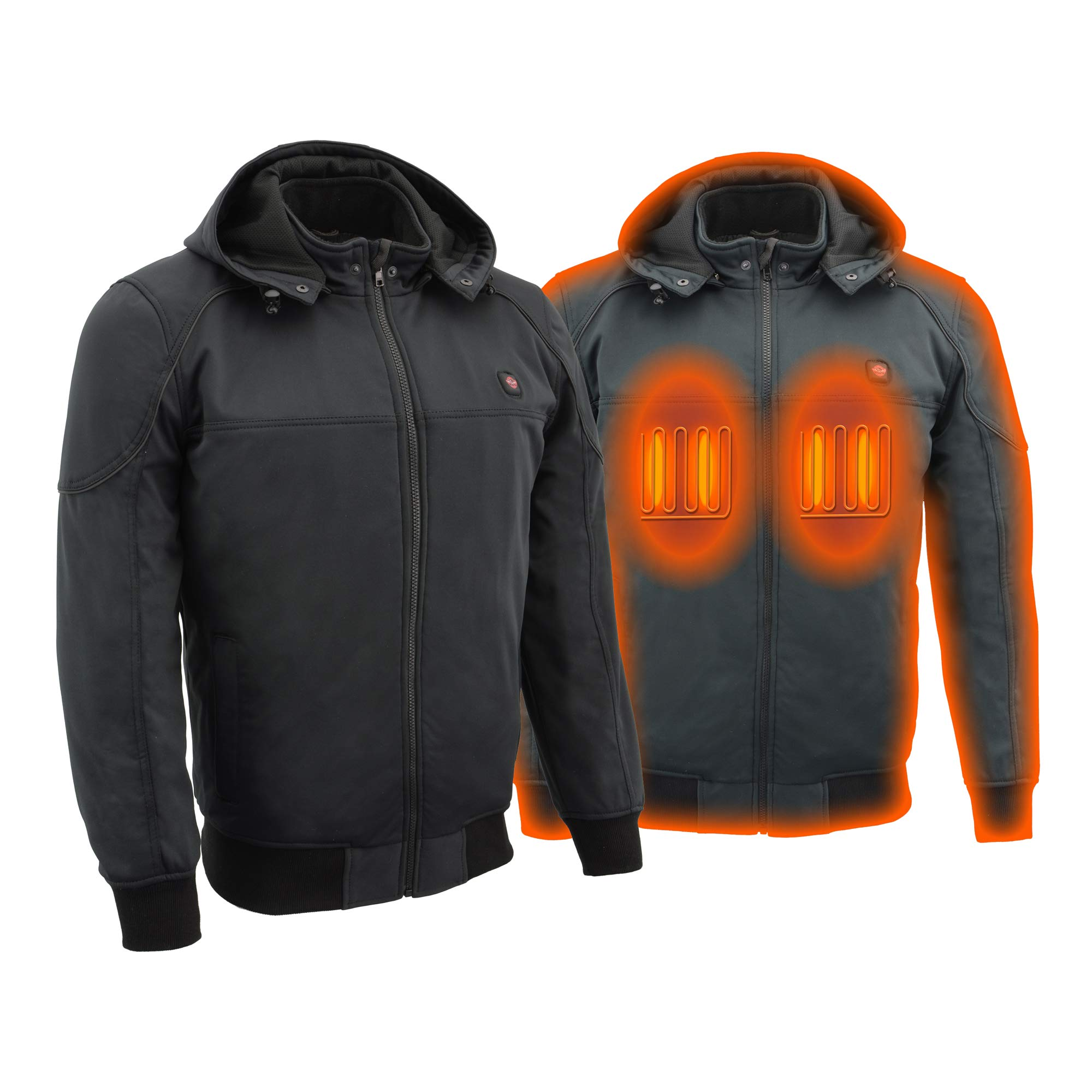 Milwaukee Performance Heated Soft Shell Men's Water Resistant Jacket - Battery Pack Included (BLACK, XLarge)