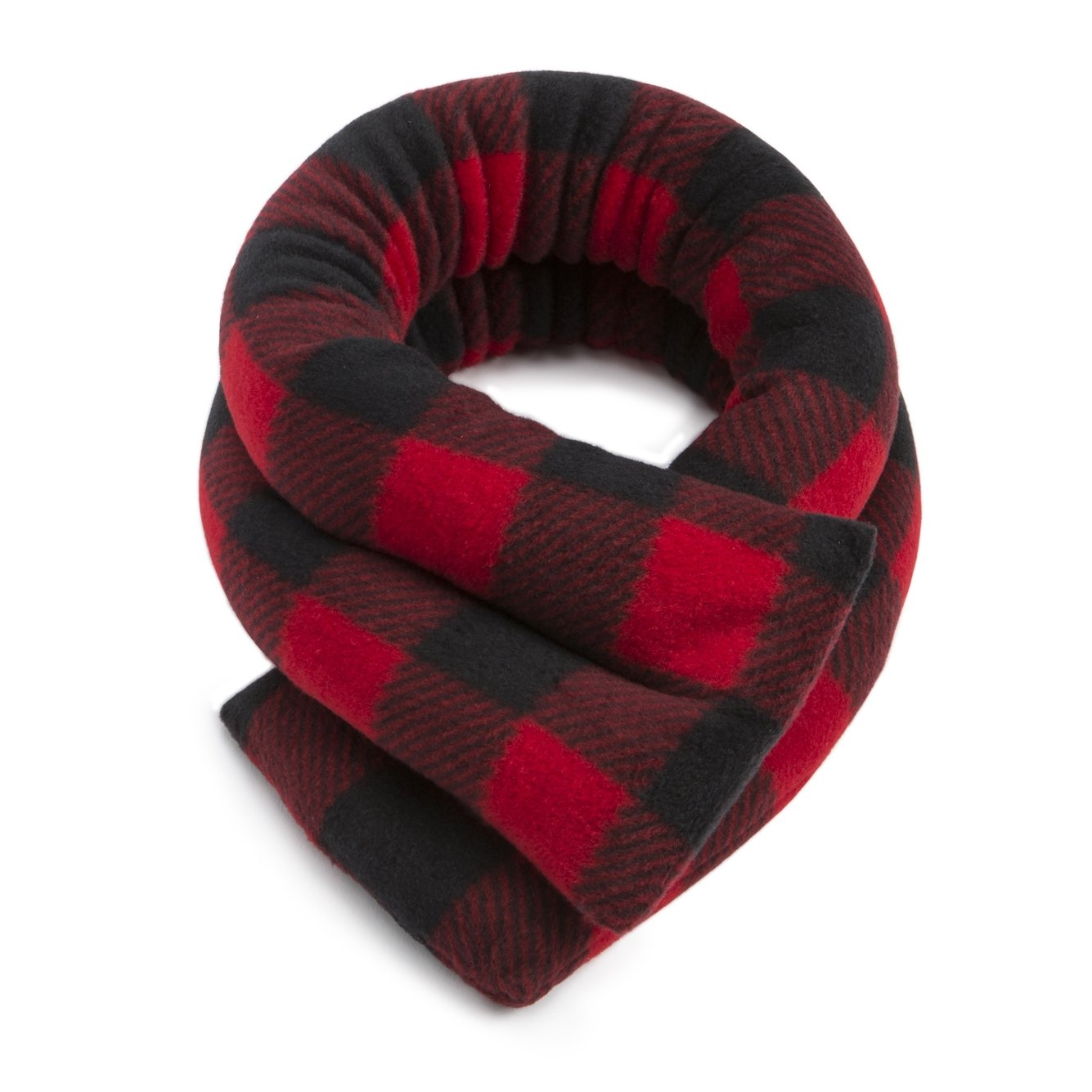 Microwavable Neck Heating Wrap by Sunny Bay - Bean Bag Heat Pad for Neck Pain Relief, Microwave, Hot & Cold Therapy, Extra Long Shoulder Heat Pack, Back Pain Relief (Buffalo Plaid red)