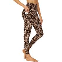 HIGHDAYS Printed Yoga Pants for Women with Pockets - High Waisted Tummy Control Women's Leggings for Workout Running Athletic