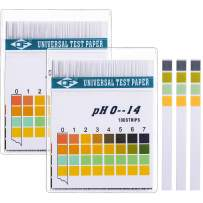 Hicarer Universal pH Test Paper Strips for Test Body Acid Alkaline pH Level, Skin Care, Aquariums, Drinking Water, with 4 Testing Panels for Increased Accuracy, Measure Full Range 0-14