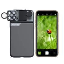 iPhone 11 Pro MAX case iPhone 11 Pro MAX Camera Lens Kits Pretmess 4K HD 6 in 1 10x Macro Lens+20x Macro Lens+180° Ringed Fisheye Lens+2X Telephoto+Landscape CPL Filter