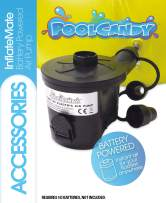Poolcandy Inflate-Mate Battery Air Pump- Portable Pump for Convenient On The Go Inflating and Deflating- Pool Beach Lake River or Boat Days