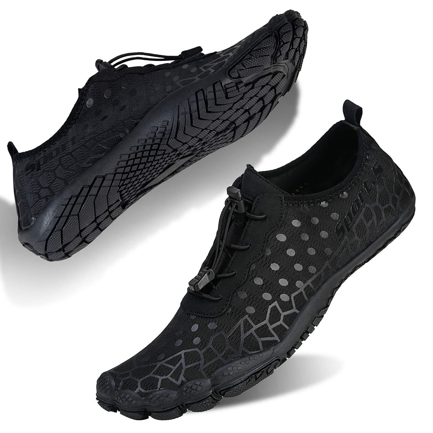 Water Shoes Mens Womens Barefoot Diving Swim Shoes Water Sports Non-Slip Aqua Shoes for Swim Pool, Beach,Hiking, Kayaking, Boating,Surfing