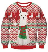TUONROAD Men Women Ugly Christmas Sweatshirt 3D Print Sweater Boys Party Pullover Tops