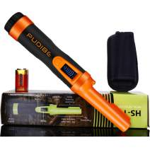 LCD Display Pinpoint Metal Detector Pinpointer - Fully Waterproof to 8-20 feet with orange color Include a 9V Battery,360°Search Treasure Pinpointing Finder Probe with Belt Holster for Adults and Kids