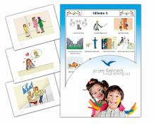 Yo-Yee Flashcards - Idioms and Phrases Flash Cards - Set 1 - English Vocabulary Picture Cards for Toddlers, Kids, Children and Adults