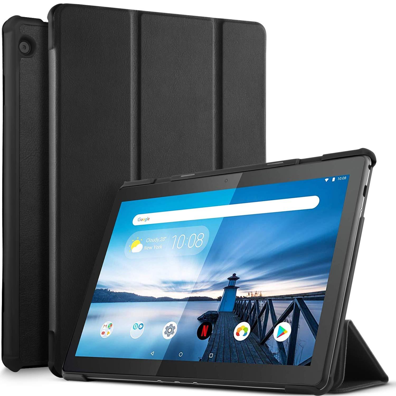 IVSO Case for Lenovo TAB M10 Tablet, Ultra Lightweight Protective Slim Smart Cover Case for Lenovo TAB M10 2018 Released Tablet (Black)