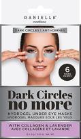 Danielle Dark Circles No More Hydrogel Undereye Masks, 6 Pairs, Collagen & Lavender, 6 Piece