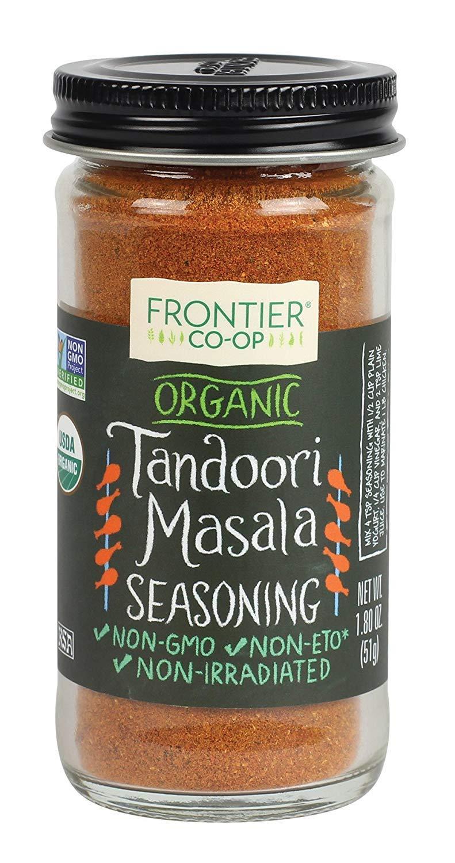 Frontier Organic Seasoning, Tandoori Masala, 1.8 Ounce PACK OF 2