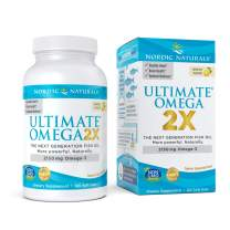 Nordic Naturals Ultimate Omega 2X, Lemon Flavor - 2150 mg Omega-3-120 Soft Gels - High-Potency Omega-3 Fish Oil with EPA & DHA - Promotes Brain & Heart Health - Non-GMO - 60 Servings