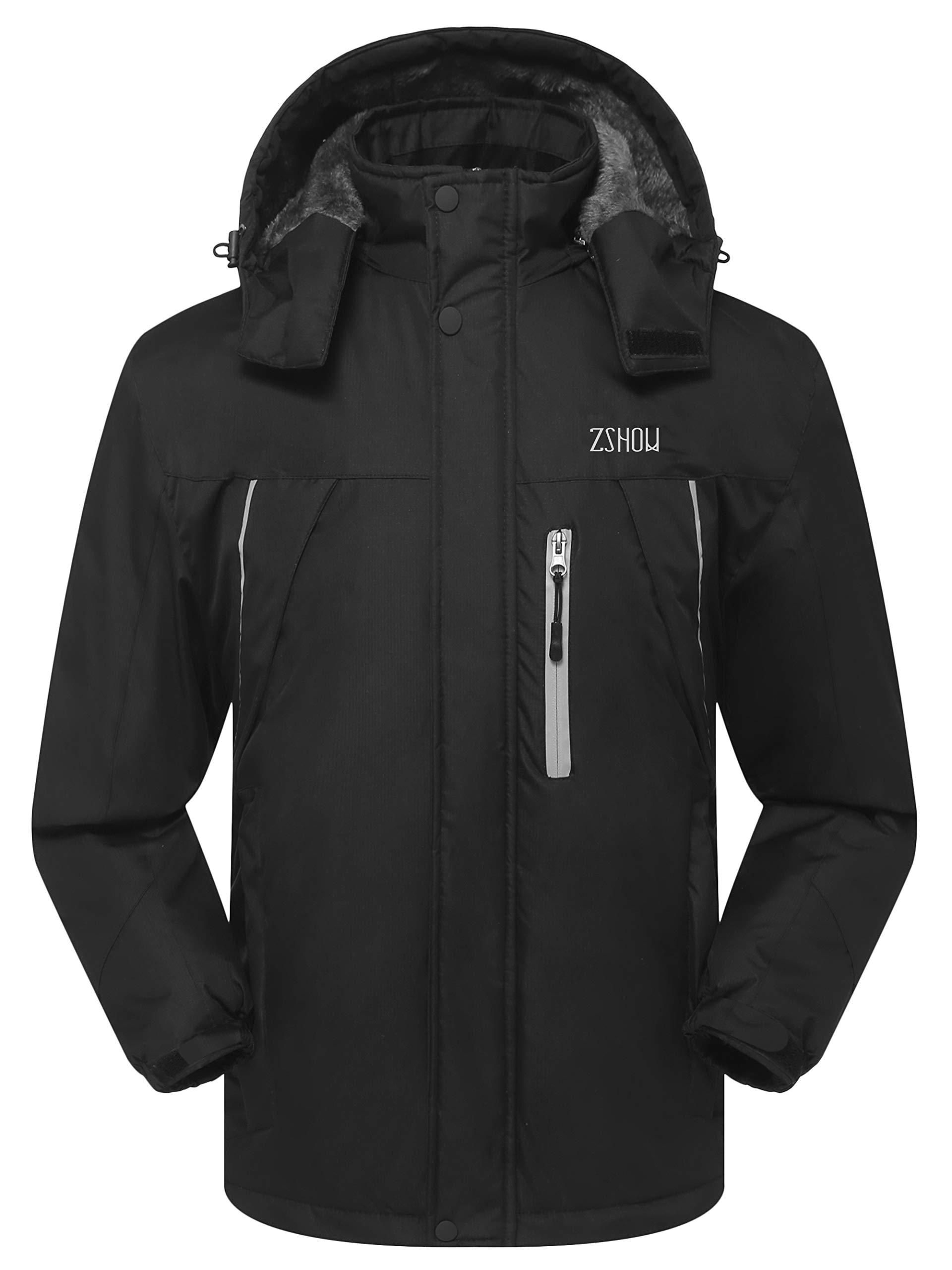 ZSHOW Men's Waterproof Ski Jacket Windproof Fleece Outdoor Insulated Mountain Snow Rain Jacket