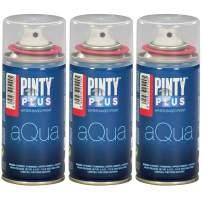 Spray Paint for Art & Crafts, Water Based Pintyplus Aqua Mini - (Aurora Red), 3 x 150 mL Cans