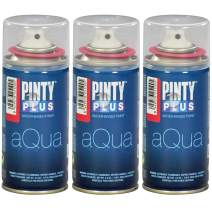 Spray Paint for Art & Crafts, Water Based Pintyplus Aqua Mini - (Aurora Red), 3 x 150 mL Cans