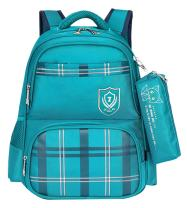 JiaYou Girl Boy Primary School Bag Student Backpack With Pencil bag For Ages 6-13 years(StyleB Green,18L)